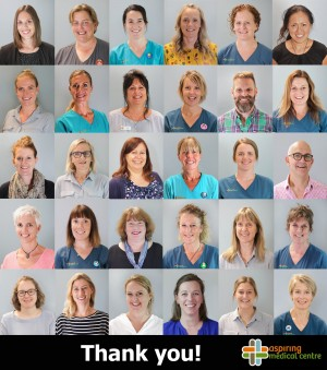 Staff photo collage